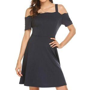 Dresses & Skirts - Slate Cold Shoulder Dress